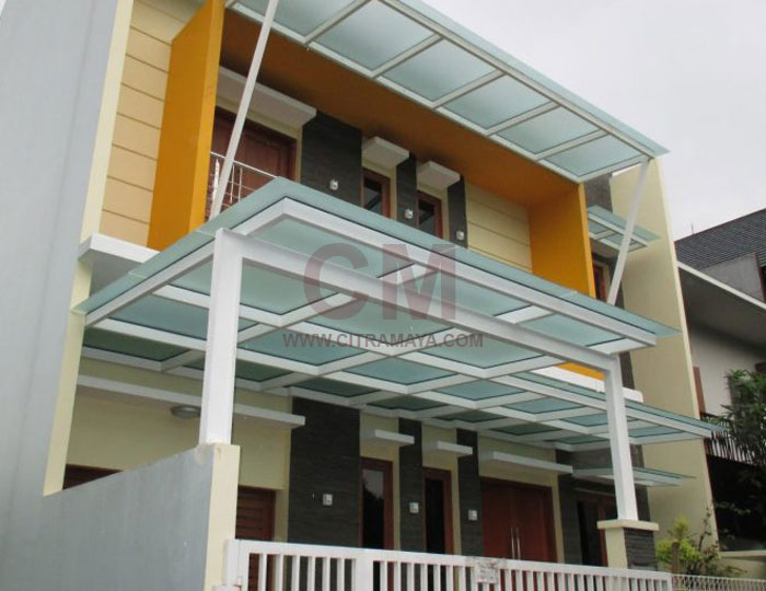Kanopi Atap Kaca Desain Minimalis Tangerang